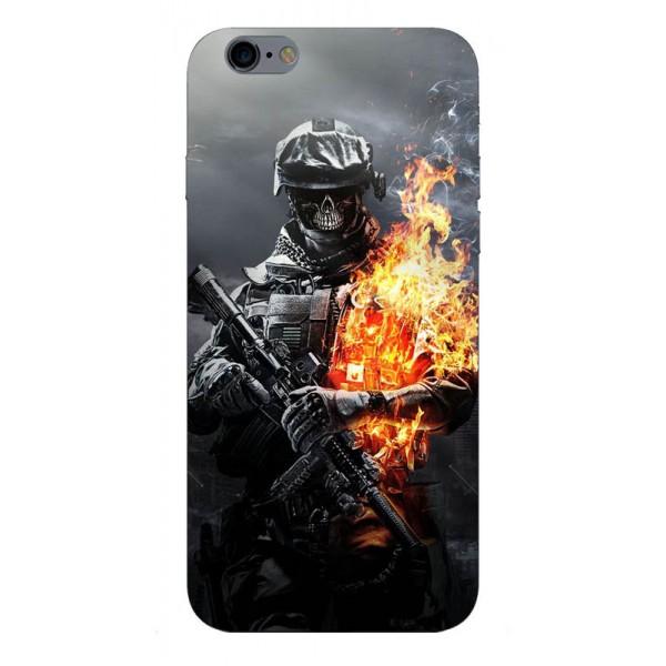 Husa Silicon Soft Upzz Print iPhone 6 / 6s Model Soldier imagine itelmobile.ro 2021
