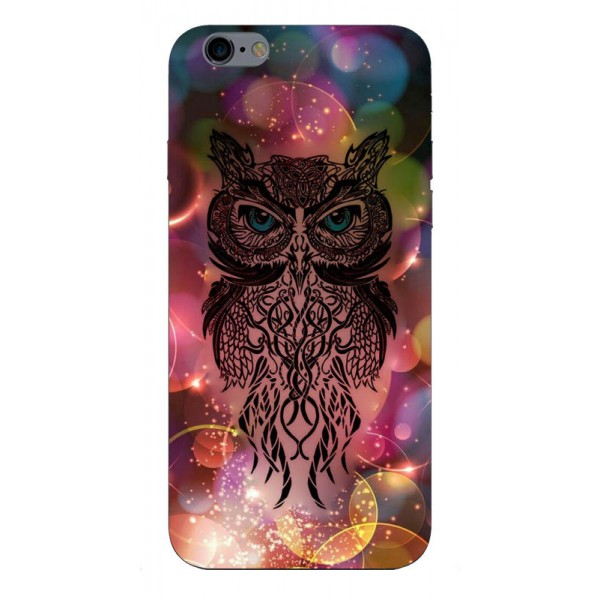 Husa Silicon Soft Upzz Print iPhone 6 / 6s Model Sparkle Owl imagine itelmobile.ro 2021