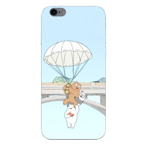 Husa Silicon Soft Upzz Print iPhone 6 / 6s Model Three Bears imagine itelmobile.ro 2021