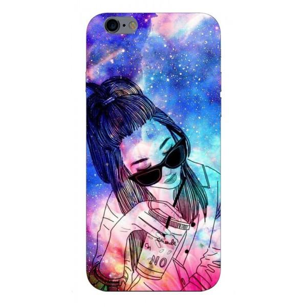 Husa Silicon Soft Upzz Print iPhone 6 / 6s Model Universe Girl imagine itelmobile.ro 2021