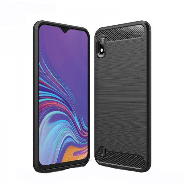 Husa Spate Forcell Carbon Pro Samsung Samsung Galaxy A10 Negru Silicon imagine itelmobile.ro 2021
