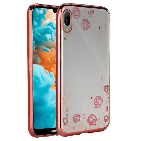 Husa Spate Forcell Bling Diamond Huawei Y7 2019 / Y7 Prime 2019 Rose Gold imagine itelmobile.ro 2021