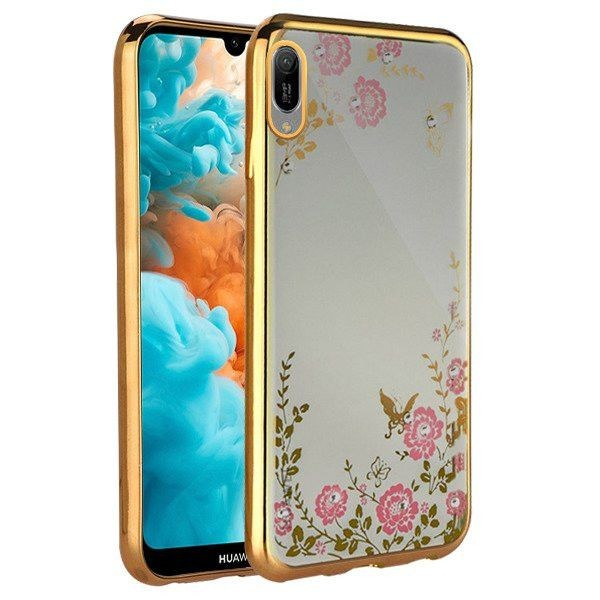 Husa Spate Forcell Bling Diamond Huawei Y7 2019 / Y7 Prime 2019 Gold imagine itelmobile.ro 2021
