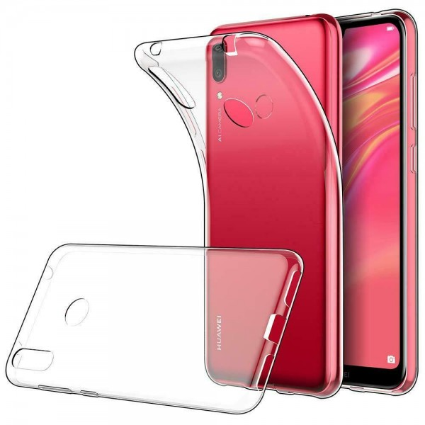 Husa Upzz Spate Ultra Slim Huawei Y7 2019 0,5mm ,silicon ,transparenta imagine itelmobile.ro 2021