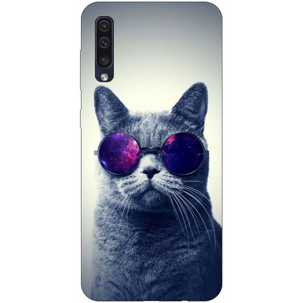 Husa Silicon Soft Upzz Print Samsung Galaxy A50 Model Cool Cat imagine itelmobile.ro 2021