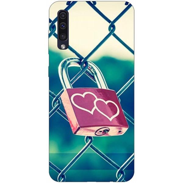 Husa Silicon Soft Upzz Print Samsung Galaxy A50 Model Heart Lock imagine itelmobile.ro 2021