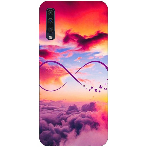 Husa Silicon Soft Upzz Print Samsung Galaxy A50 Model Infinity imagine itelmobile.ro 2021