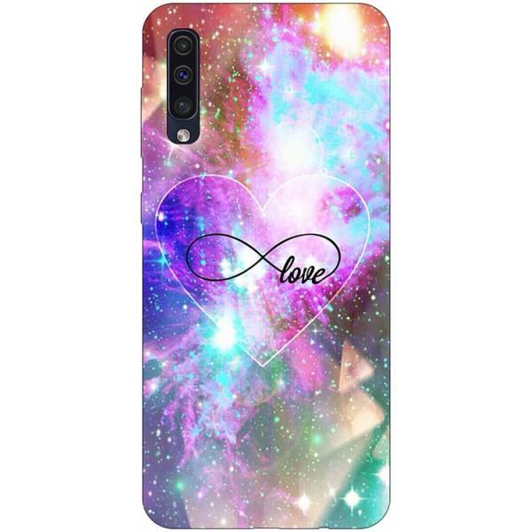 Husa Silicon Soft Upzz Print Samsung Galaxy A50 Model Neon Love imagine itelmobile.ro 2021