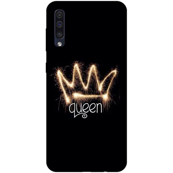 Husa Silicon Soft Upzz Print Samsung Galaxy A50 Model Queen imagine itelmobile.ro 2021