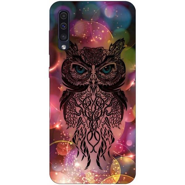 Husa Silicon Soft Upzz Print Samsung Galaxy A50 Model Sparkle Owl imagine itelmobile.ro 2021