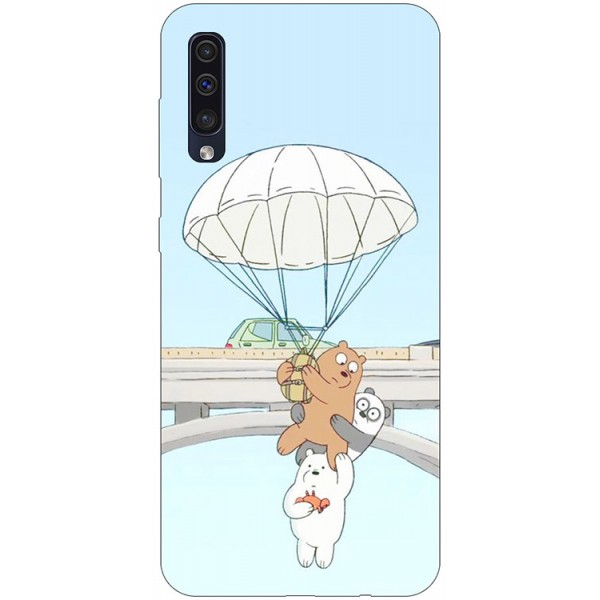 Husa Silicon Soft Upzz Print Samsung Galaxy A50 Model Three Bears imagine itelmobile.ro 2021