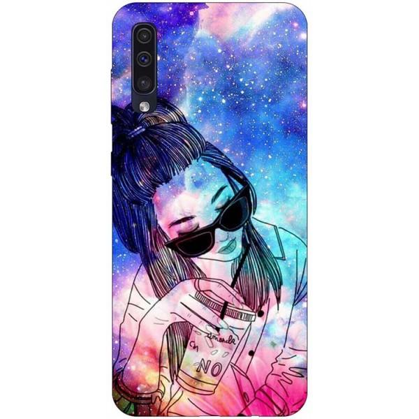 Husa Silicon Soft Upzz Print Samsung Galaxy A50 Model Universe Girl imagine itelmobile.ro 2021