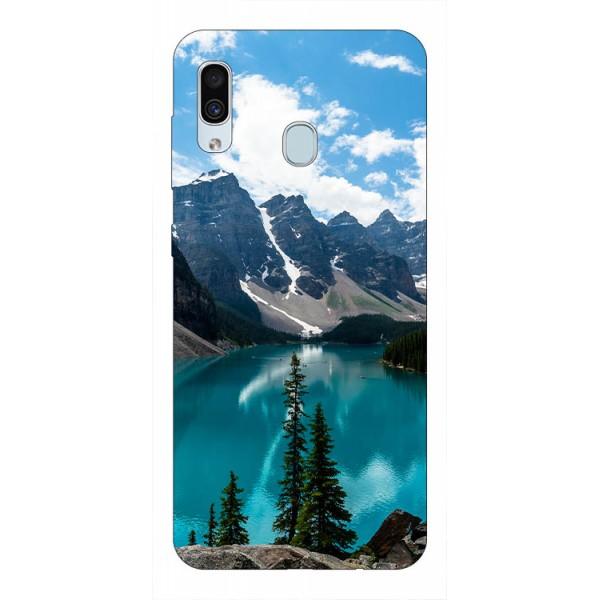 Husa Silicon Soft Upzz Print Samsung Galaxy A30 Model Blue imagine itelmobile.ro 2021