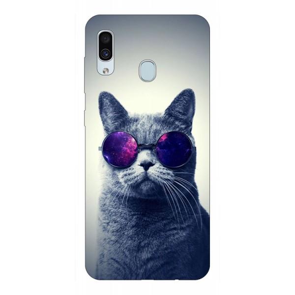 Husa Silicon Soft Upzz Print Samsung Galaxy A30 Model Cool Cat imagine itelmobile.ro 2021