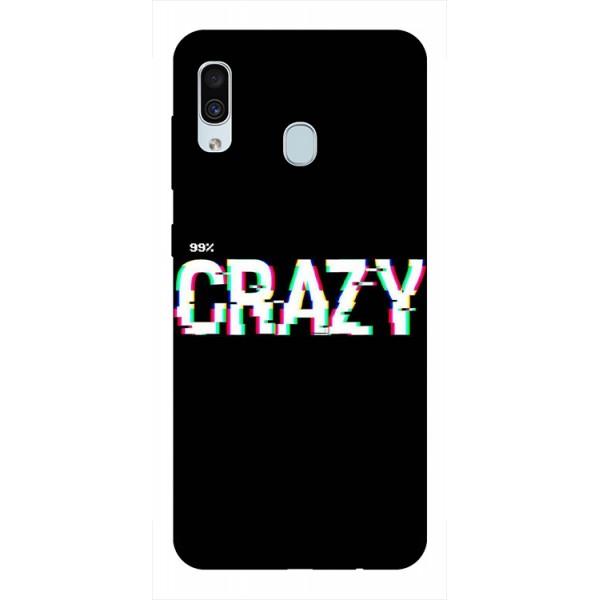 Husa Silicon Soft Upzz Print Samsung Galaxy A30 Model Crazy imagine itelmobile.ro 2021