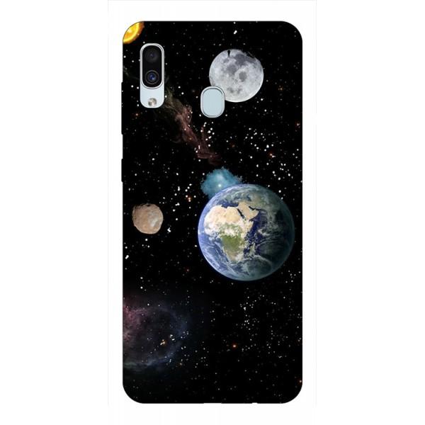 Husa Silicon Soft Upzz Print Samsung Galaxy A30 Model Earth imagine itelmobile.ro 2021