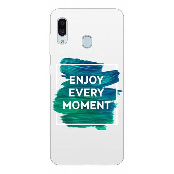 Husa Silicon Soft Upzz Print Samsung Galaxy A30 Model Enjoy imagine itelmobile.ro 2021