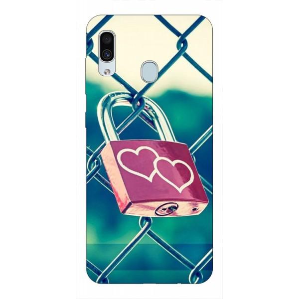 Husa Silicon Soft Upzz Print Samsung Galaxy A30 Model Heart Lock imagine itelmobile.ro 2021