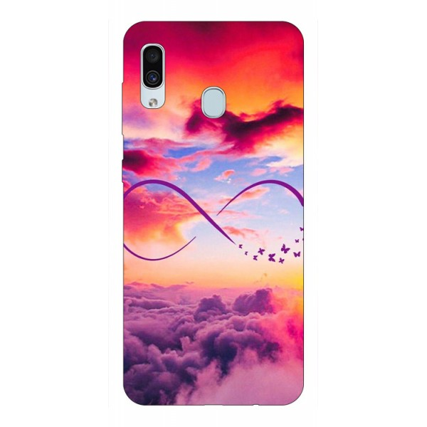 Husa Silicon Soft Upzz Print Samsung Galaxy A30 Model Infinity imagine itelmobile.ro 2021