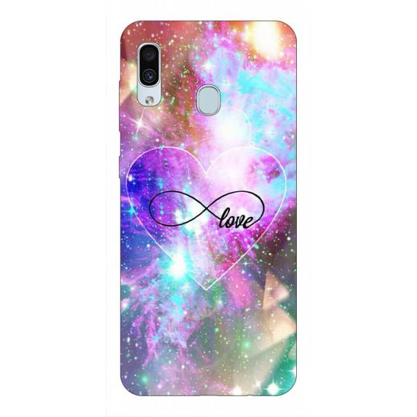 Husa Silicon Soft Upzz Print Samsung Galaxy A30 Model Neon Love imagine itelmobile.ro 2021