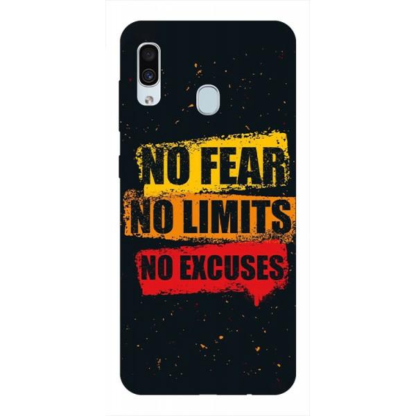 Husa Silicon Soft Upzz Print Samsung Galaxy A30 Model No Fear imagine itelmobile.ro 2021
