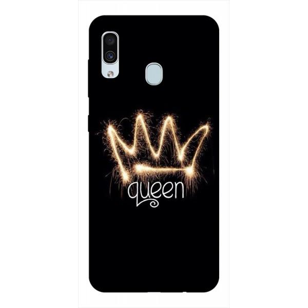 Husa Silicon Soft Upzz Print Samsung Galaxy A30 Model Queen imagine itelmobile.ro 2021