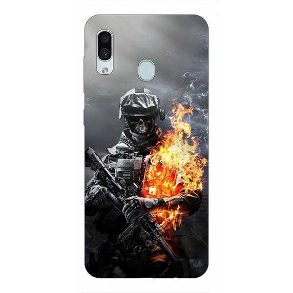 Husa Silicon Soft Upzz Print Samsung Galaxy A30 Model Soldier imagine itelmobile.ro 2021