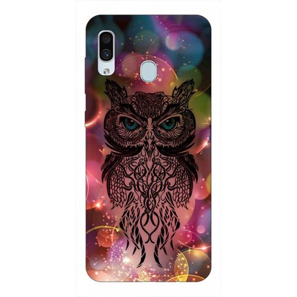 Husa Silicon Soft Upzz Print Samsung Galaxy A30 Model Sparkle Owl imagine itelmobile.ro 2021