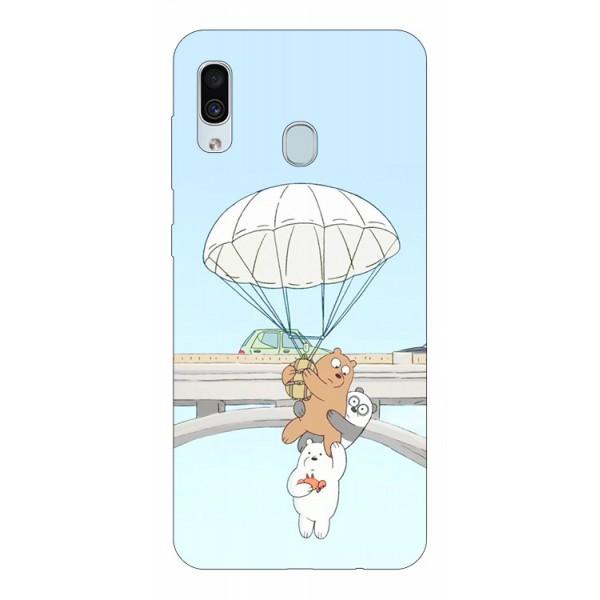 Husa Silicon Soft Upzz Print Samsung Galaxy A30 Model Three Bears imagine itelmobile.ro 2021