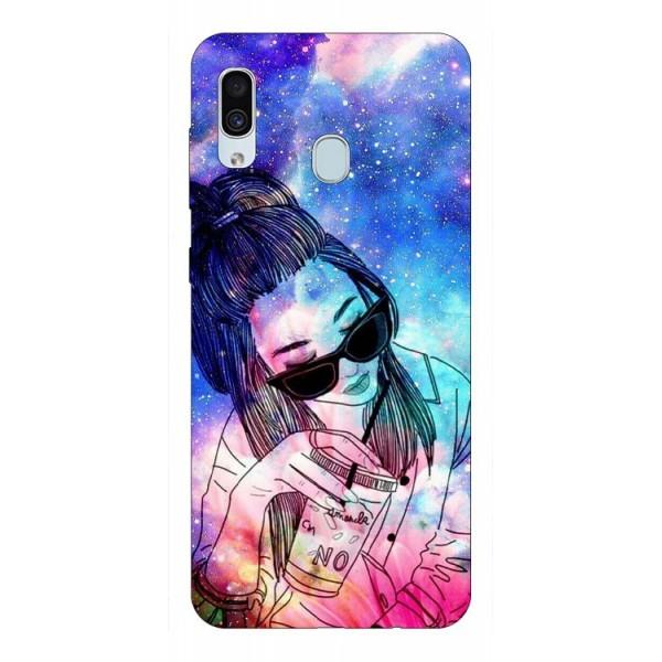 Husa Silicon Soft Upzz Print Samsung Galaxy A30 Model Universe Girl imagine itelmobile.ro 2021