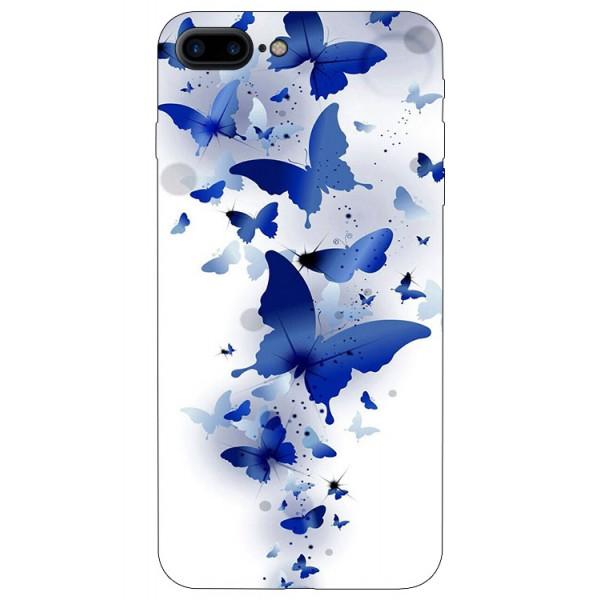 Husa Silicon Soft Upzz Print iPhone 7/8 Plus Model Blue Butterflyes imagine itelmobile.ro 2021