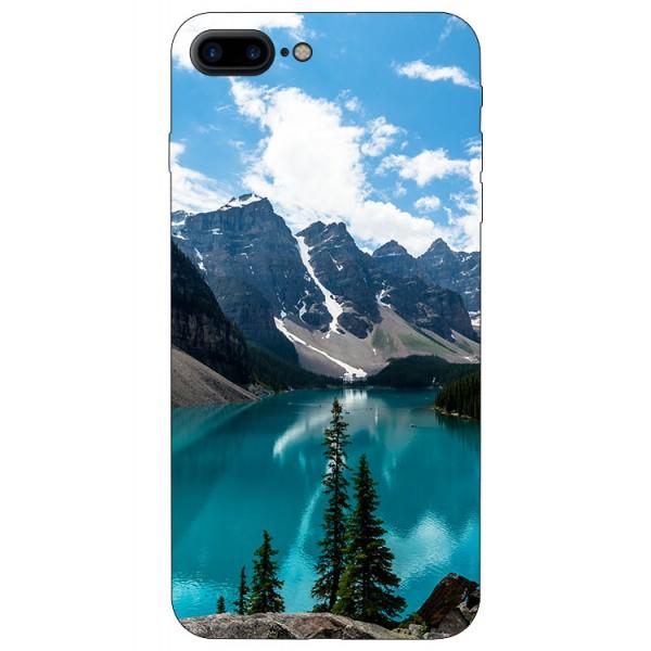 Husa Silicon Soft Upzz Print iPhone 7/8 Plus Model Blue imagine itelmobile.ro 2021