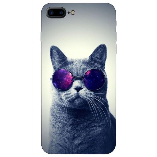 Husa Silicon Soft Upzz Print iPhone 7/8 Plus Model Cool Cat imagine itelmobile.ro 2021