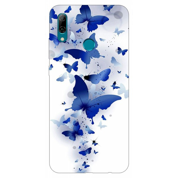 Husa Silicon Soft Upzz Print Huawei P Smart 2019 Model Blue Butterflies imagine itelmobile.ro 2021