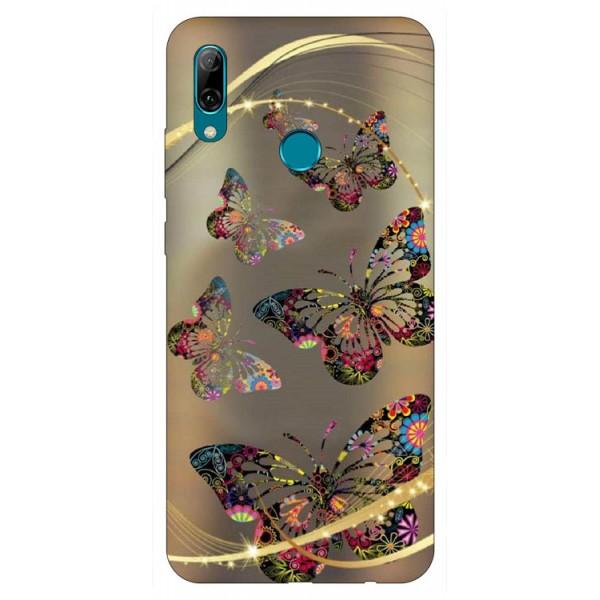 Husa Silicon Soft Upzz Print Huawei P Smart 2019 Model Golden Butterfly imagine itelmobile.ro 2021