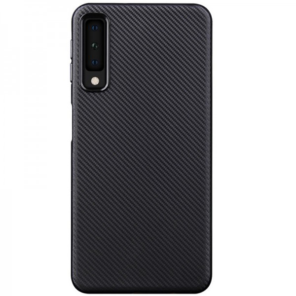 Husa Spate Upzz Carbon Fiber Samsung Galaxy A50, Silicon, Slim Neagra imagine itelmobile.ro 2021