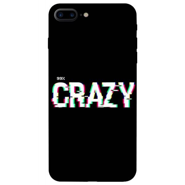 Husa Silicon Soft Upzz Print iPhone 7/8 Plus Model Crazy imagine itelmobile.ro 2021
