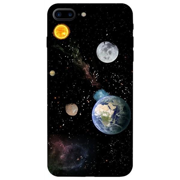 Husa Silicon Soft Upzz Print iPhone 7/8 Plus Model Earth imagine itelmobile.ro 2021