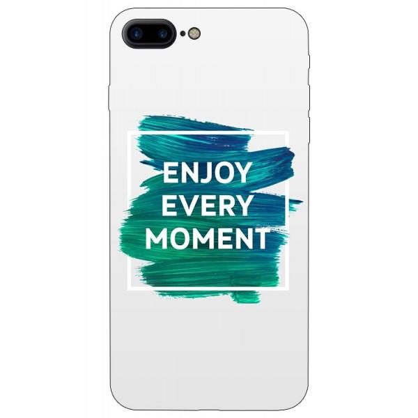 Husa Silicon Soft Upzz Print iPhone 7/8 Plus Model Enjoy imagine itelmobile.ro 2021