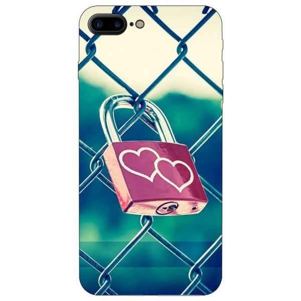 Husa Silicon Soft Upzz Print iPhone 7/8 Plus Model Heart Lock imagine itelmobile.ro 2021