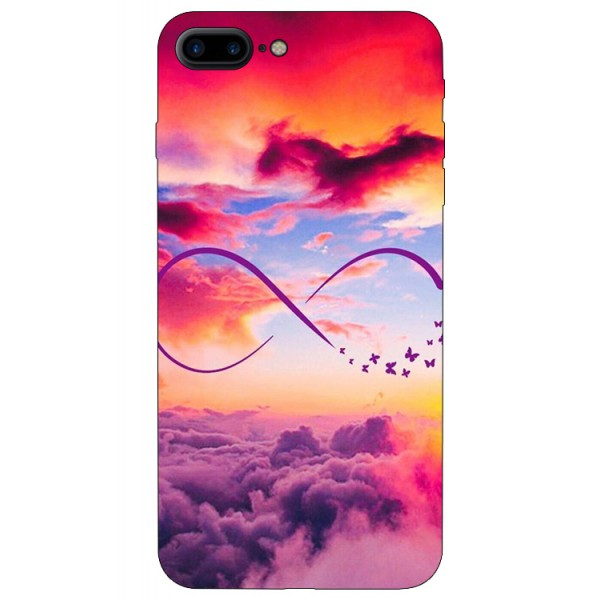 Husa Silicon Soft Upzz Print iPhone 7/8 Plus Model Infinity imagine itelmobile.ro 2021