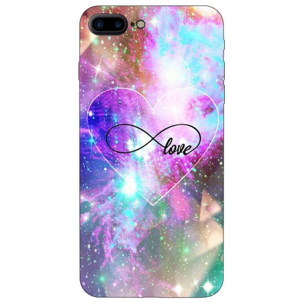 Husa Silicon Soft Upzz Print iPhone 7/8 Plus Model Neon Love imagine itelmobile.ro 2021