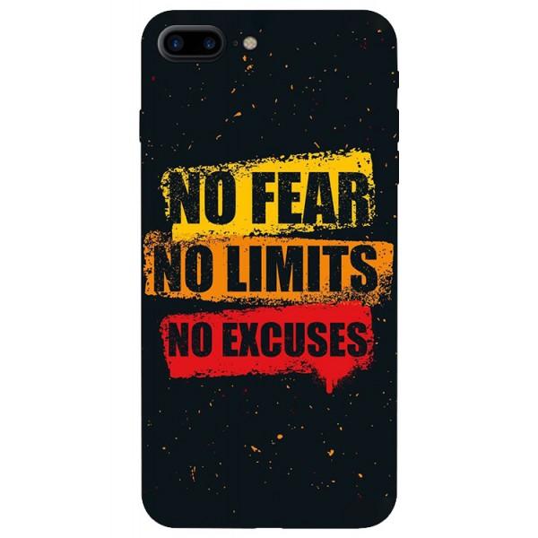 Husa Silicon Soft Upzz Print iPhone 7/8 Plus Model No Fear imagine itelmobile.ro 2021
