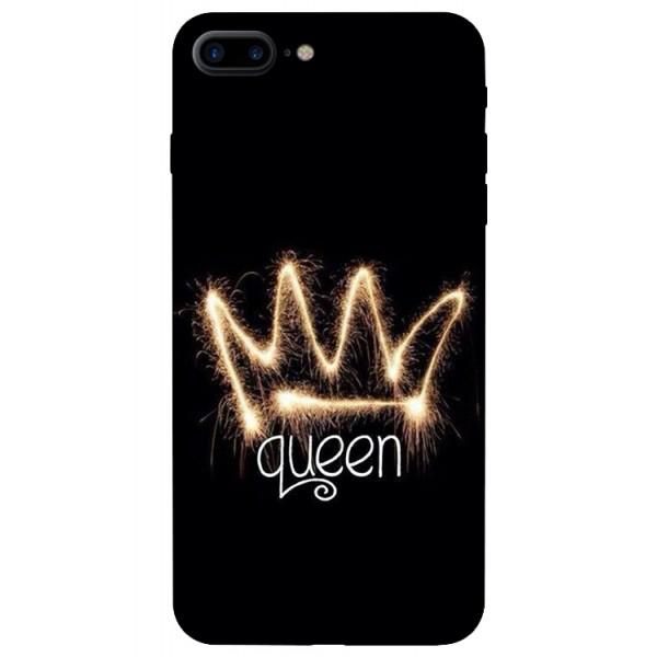 Husa Silicon Soft Upzz Print iPhone 7/8 Plus Model Queen imagine itelmobile.ro 2021