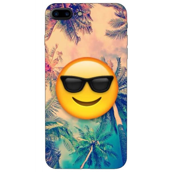 Husa Silicon Soft Upzz Print iPhone 7/8 Plus Model Smile imagine itelmobile.ro 2021