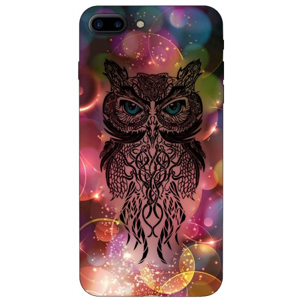 Husa Silicon Soft Upzz Print iPhone 7/8 Plus Model Sparke Owl imagine itelmobile.ro 2021