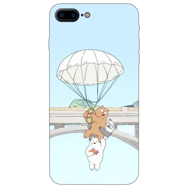 Husa Silicon Soft Upzz Print iPhone 7/8 Plus Model Three Bears imagine itelmobile.ro 2021