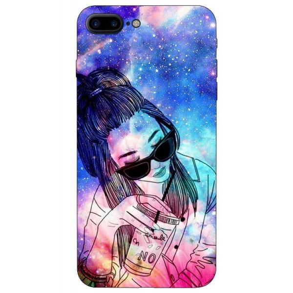 Husa Silicon Soft Upzz Print iPhone 7/8 Plus Model Universe Girl imagine itelmobile.ro 2021