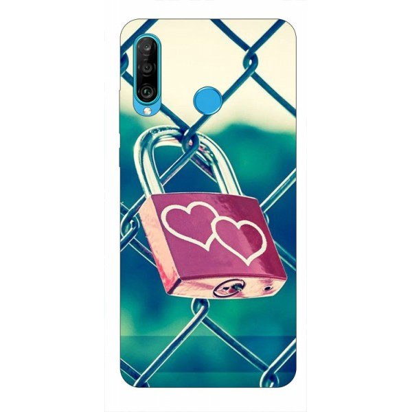 Husa Silicon Soft Upzz Print Huawei P30 Lite Model Heart Lock imagine itelmobile.ro 2021