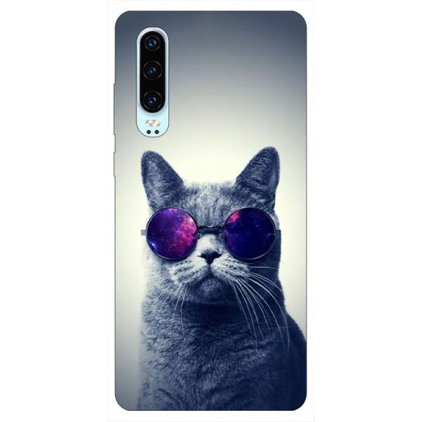 Husa Silicon Soft Upzz Print Huawei P30 Model Cool Cat imagine itelmobile.ro 2021